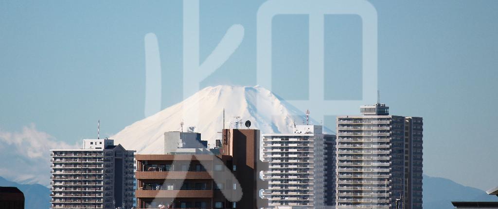 そざい畑,素材畑,都内から望む富士山
