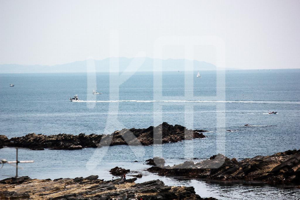 そざい畑,素材畑,城ヶ崎海岸から三浦半島を望む